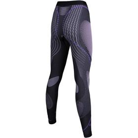 UYN W s Evolutyon Melange UW Long Pants Anthracite Melange Raspberry Purple 736f5d362ea